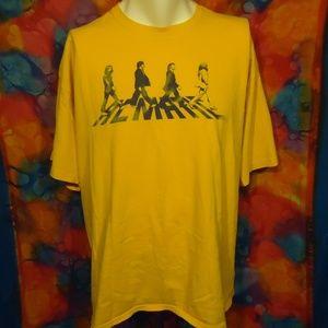 Acmatic - Beatles Abbey Road - T-shirt - Yellow